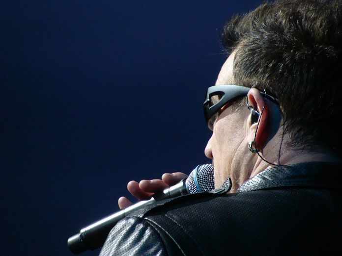U2 singer Bono prayer Mass