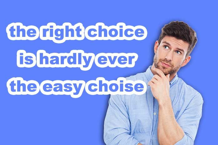 make the right choice as a christian