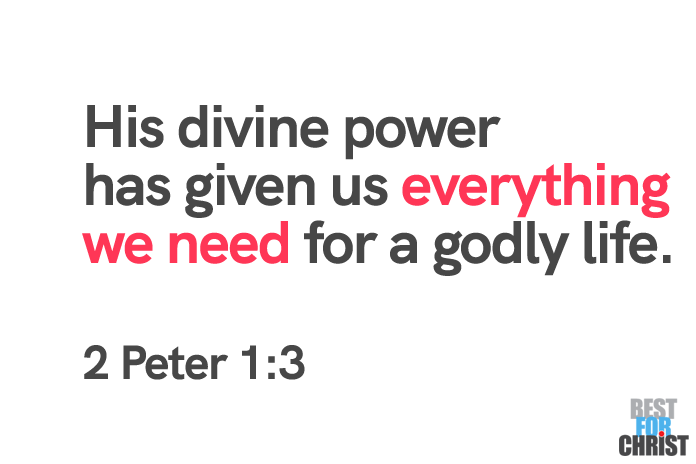 godly life Bible Verses for the Day June 22 2 Peter 1:3
