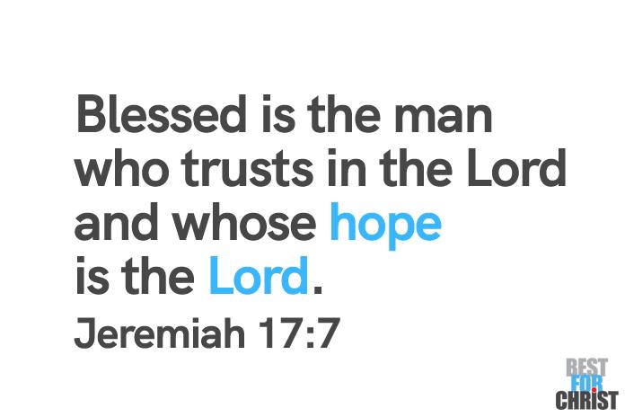 Trust God Day June 18 bible verse Jeremiah 17:7